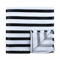 Black and White Stripe Football Pocket Square #AB-TPH1019/1