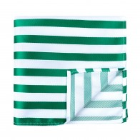 Green and White Stripe Football Pocket Square #AB-TPH1019/5