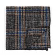 Grey Overcheck Wool Pocket Square #AB-TPH1020/2