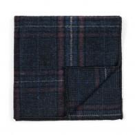 Navy Blue Overcheck Pocket Square #AB-TPH1020/3