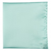 Turquoise Twill Pocket Square #TPH103/1