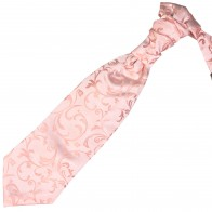Peach Swirl Leaf Wedding Cravat #AB-WCR1000/7