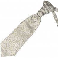 Sage Green Royal Swirl Wedding Cravat #AB-WCR1001/4
