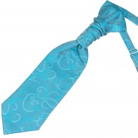 Turquoise Modern Scroll Wedding Cravat #AB-WCR1002/2