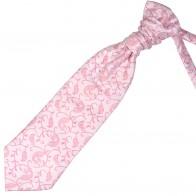 Coral Budding Paisley Wedding Cravat #AB-WCR1003/1