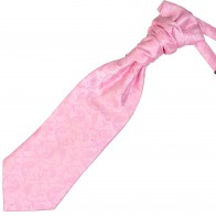 Pink Budding Paisley Wedding Cravat #AB-WCR1003/2