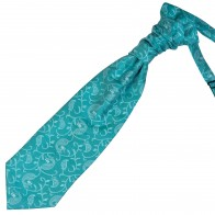 Teal Budding Paisley Wedding Cravat #AB-WCR1003/3