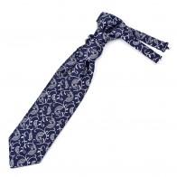 Moonlight Navy Budding Paisley Cravat #AB-WCR1003/7