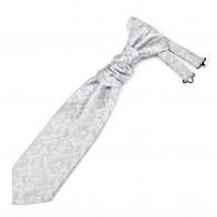 Silver Budding Paisley Cravat #AB-WCR1003/8