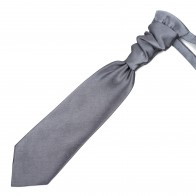 Dark Grey Shantung Cravat #AB-WCR1005/9