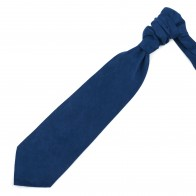 Darkest Blue Suede Cravat #AB-WCR1006/14