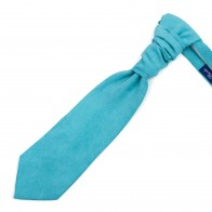 Duck Egg Blue Suede Cravat #AB-WCR1006/9