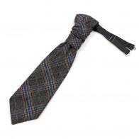 Grey Overcheck Wool Cravat #AB-WCR1020/2