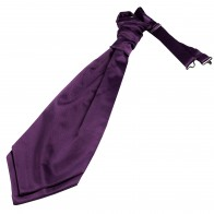 Purple Satin Wedding Cravat #WCR1847/6