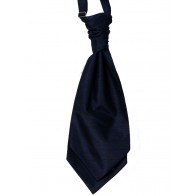 Navy Blue Shantung Wedding Wedding Cravat #WCR1864/3