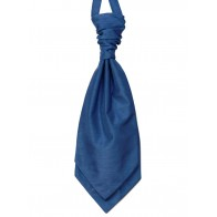 Airforce Blue Shantung Wedding Wedding Cravat (Boys Size) #YCR1865/5