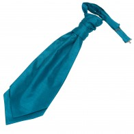 Teal Blue Shantung Wedding Wedding Cravat (Boys Size) #YCR1867/2
