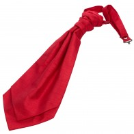 Tomato Red Shantung Wedding Cravat #WCR1867/5 #LAST STOCK