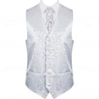 Silver Swirl Leaf Formal Waistcoat #AB-WW1000/10