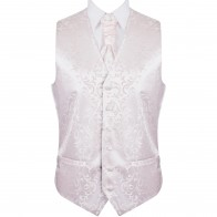 Bridal Blush Swirl Leaf Wedding Waistcoat #AB-WW1000/13