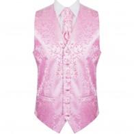 Pink Swirl Leaf Wedding Waistcoat #AB-WW1000/6