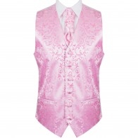 Pink Swirl Leaf Wedding Waistcoat #AB-WWA1000/6