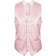 Peach Swirl Leaf Formal Waistcoat #AB-WW1000/7