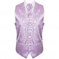 Lilac Swirl Leaf Wedding Waistcoat #AB-WW1000/8