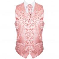 Coral Swirl Leaf Wedding Waistcoat #AB-WW1000/9