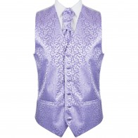 Lilac Royal Swirl Wedding Waistcoat #AB-WW1001/1
