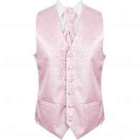 Light Pink Royal Swirl Wedding Waistcoat #AB-WWA1001/3