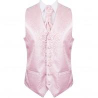 Light Pink Royal Swirl Wedding Waistcoat #AB-WW1001/3