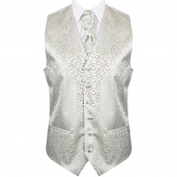 Sage Green Royal Swirl Wedding Waistcoat #AB-WW1001/4