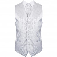 Silver Royal Swirl Wedding Waistcoat #AB-WWA1001/5