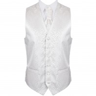 Ivory Royal Swirl Wedding Waistcoat #AB-WW1001/6