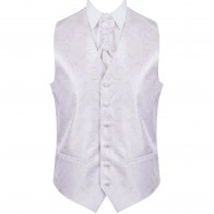 Lilac Modern Scroll Wedding Waistcoat #AB-WWA1002/1