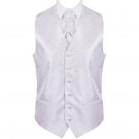 Lilac Modern Scroll Wedding Waistcoat #AB-WW1002/1