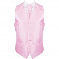 Light Pink Modern Scroll Wedding Waistcoat #AB-WWA1002/3