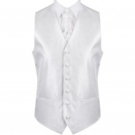 Ivory Modern Scroll Formal Waistcoat #AB-WW1002/4