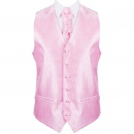Pink Budding Paisley Wedding Waistcoat #AB-WWA1003/2