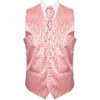 Coral Vintage Vine Formal Waistcoat #AB-WWA1004/2