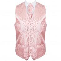 Peach Vintage Vine Formal Waistcoat #AB-WWA1004/3