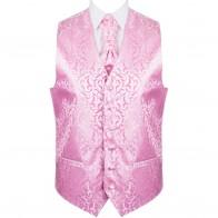Pink Vintage Vine Formal Waistcoat #AB-WW1004/4