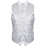 Silver Vintage Vine Formal Waistcoat #AB-WW1004/5