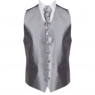 Dark Grey Shantung Wedding Waistcoat #AB-WWB1005/9