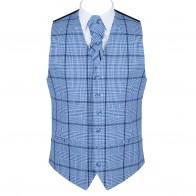 Regatta Blue Check Waistcoat #AB-WWA1007/2