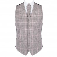 Brown Check Waistcoat #AB-WW1007/4