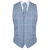 Dutch Blue Check Waistcoat #AB-WWA1007/5