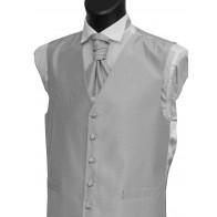 Silver Shantung Wedding Waistcoat #WW1866/2