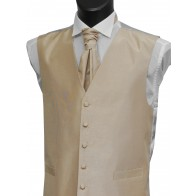 Champagne Shantung Wedding Waistcoat #WW1866/5